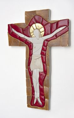 Cross 13-12-3 Porcelain mosaic cross Www.lubomichalko.com