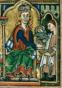 Washing hands with an aquamanile. Medieval Times, Medieval Art, Illuminated Letters, Illuminated Manuscript, Book Of Hours, Medieval Manuscript, Historical Images, Medieval Clothing, Middle Ages