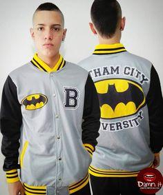 Hoodie BATMAN Gotham City University Http://www.facebook.com/camisetasdamnit