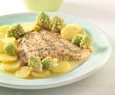Lauwarmer Kartoffelsalat mit Lachs FOR PREGNANT: Lukewarm potato salad with salmon