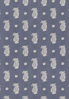 WHARTON PAISLEY, Blue, W74134, Collection Richmond from Thibaut