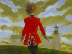 Jamie Wyeth-one of my favorites w Monhegan Island Lighthouse, ME in background