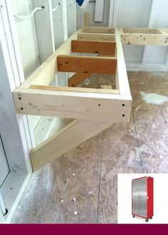 Woodworking Bench easy pine bench shed makeover - One Room Challenge Bench Building for extra seating. Built with pine 2 x for an easy DIY project for the shed makeover. Storage Shed Organization, Diy Garage Storage, Basement Storage, Storage Ideas, Garage Shelving, Basement Decorating, Workshop Organization, Diy Garage Work Bench, Decorating Ideas