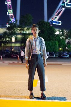 Mister Has: Has, Artistic Director, Outfit from Thom Browne, Shoes from Alden.  #shentonista #theuniform #singapore #fashion #streetstyle #style #ootd #AFF #audifashionfestival #thombrowne #alden #men #swag #sartorial #oxford   #WorkItWednesday #Alden Shoes are available on www.TheShoeMart.com
