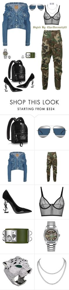 """Untitled #798"" by cherhorowitz95 ❤ liked on Polyvore featuring Christian Dior, Balenciaga, R13, Yves Saint Laurent, La Perla, Chopard, Rolex and Jewels by Viggi"