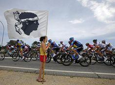 TdF 2013_Ét. 1_La Corse accueillait ce samedi 29 juin 2013 la première étape du Tour 2013 entre Porto-Vecchio et Bastia. (sport24.com)