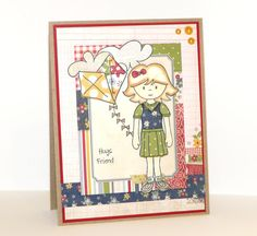 Paper Sweeties Paper Pieced Doll card