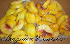 Sevgiden Esintiler: Kışlık Hazırlıklar Bölüm :2 Derin Dondurucuda Saklanan Gıdalar No Gluten Diet, Peach Trees, Seasonal Food, Vegetable Drinks, Delicious Fruit, Turkish Recipes, Winter Food, Freezer Meals, Food Preparation