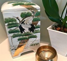 Gorgeous Antique Vintage Ceramic Porcelain Collectible Japanese Jubako Danju Bento Box Tiered Box Stackable Box Crane Design by YatsDomino on Etsy