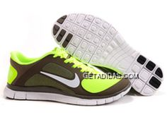 new styles f32e5 490c9 Womens Nike Free 4.0 V3 Brown Green Shoes TopDeals, Price   66.51 - Adidas  Shoes,Adidas Nmd,Superstar,Originals