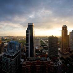 Chicago Skyline Sunset #iPad #Wallpaper HD