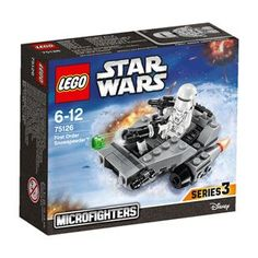 One LEGO Star Wars 75126 First Order Snowspeeder Micro Fighter. First Order Snowspeeder! Add this Star Wars LEGO set to your collection and bring the Micro world to life. X Wing Fighter, Lego Sets, Lego Star Wars, Fly Guy, All Lego, Lego War, Disney, Construction, First Order