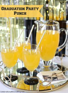 Easy wedding punch recipe for many or few shower ideas pinterest golden graduation punch family friendly recipe graduation punch junglespirit Gallery