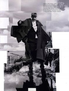 Baptiste Radufe and Robert Laby shot by Jacob Sutton and styled by Samuel François for F/W 2012 issue of Numéro Homme
