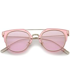 Modern Ultra Thin Wire Inner Rim Pantos Flat Lens Sunglasses a322 ($18) ❤ liked on Polyvore featuring accessories, eyewear, sunglasses, glasses, pink, mirrored lens sunglasses, thin sunglasses, mirror glasses, flat-top sunglasses and wire sunglasses
