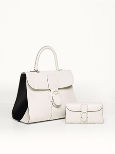 9478f5a4cc Brillant GM Biface bag in Ivory and Noir with matching wallet. Mar · Delvaux  bags