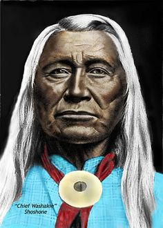 Chief Washakie of the Shoshone Nation. No date  or artist noted for this image.