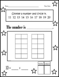 Christinas Kinder Blossoms: Place Value (K.NBT 1)