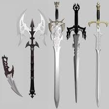 medieval weapons (like what Tristan uses in the book Archers of Avalon)