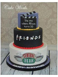 Friends Birthday Cake, 25th Birthday Cakes, Friends Cake, Cupcake Birthday Cake, 30th Birthday Parties, Cupcake Cakes, Friends Tv, Funny Friends, 30th Birthday Ideas For Men Surprise