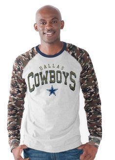 This camo-print jersey tee with the Dallas Cowboy's star logo on the chest will allow you to emerge the victor of the coolest fan gear!