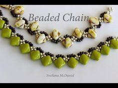 Beaded Chains_Silky Beads_Цепочки из 6x6mm камней - YouTube