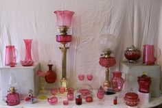 Antique Cranberry Glass