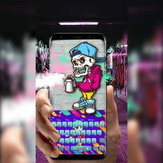 If you're a fan of #StreetArt and the #Streetlifestyle , then check out the #Skeleton #Punk #Graffiti Keyboard Theme 2018. We have #funky skeleton punk in the back, #painting your keyboard with #GraffitiArt , what could possibly ever beat that? We've designed the theme with a #beautiful range of #colours , picked from the most used in graffiti art, such as purple, blue, pink and orange. Imagine what works of art could come out from those.
