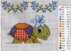 schema punto croce tartarughe | Hobby lavori femminili - ricamo - uncinetto - maglia