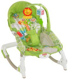 Fisher-Price, Newborn-to-Toddler Portable Rocker, Rainforest Friends