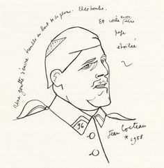 Guillaume Appolinaire par Jean Cocteau