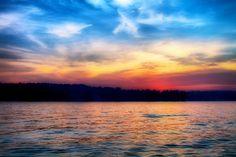 Lake Sinclair Sunset in Eatonton, GA.