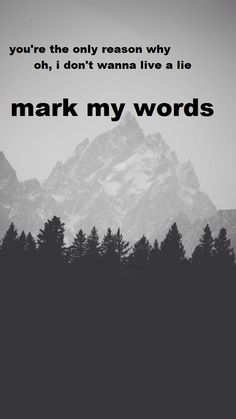 Mark my words//Justin Bieber  #markmywords #justinbieber #purpose #songlyrics