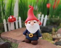 Polymer Clay Wizard Miniature Wizard Mini Clay by GnomeWoods