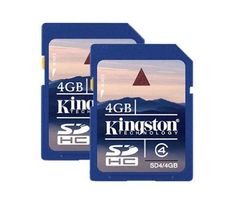 Kingston 4 GB Class 4 SDHC Flash Memory Card 2-Pack SD4/4GB-2P * Visit the image link more details.