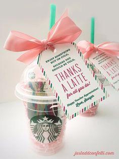 Teacher Appreciation Gift Ideas Thanks A Latte Employee Gifts Birthday For Best Friend