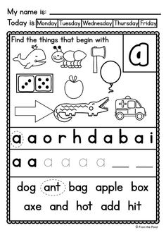Letter Sound Worksheets $