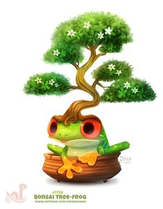 Daily+Paint+1754#+Bonsai+Tree-Frog+by+Cryptid-Creations.deviantart.com+on+@DeviantArt