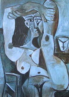 Akt mit erhobenen Armen PABLO PICASSO Kunstdruck Reproduktion Surrealismus