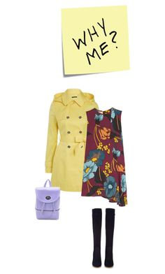 """why me?"" by freddarling ❤ liked on Polyvore featuring Post-It, Lauren Ralph Lauren, Marni and Gianvito Rossi"