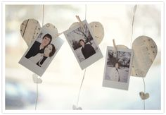 cute way to display all of our polaroids Found on 100 Layer Cake