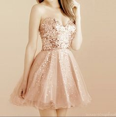 gold and sparkly prom dress