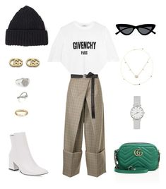 """""""Untitled #1276"""" by janita-slavilova ❤ liked on Polyvore featuring Gucci, Givenchy, Astraet, Forever 21, Le Specs, Julius, Tom Wood and Ileana Makri"""