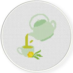 Charts Club Members Only: Pouring Tea Cross Stitch Pattern