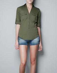 SAFARI SHIRT - Shirts - Woman - ZARA United States