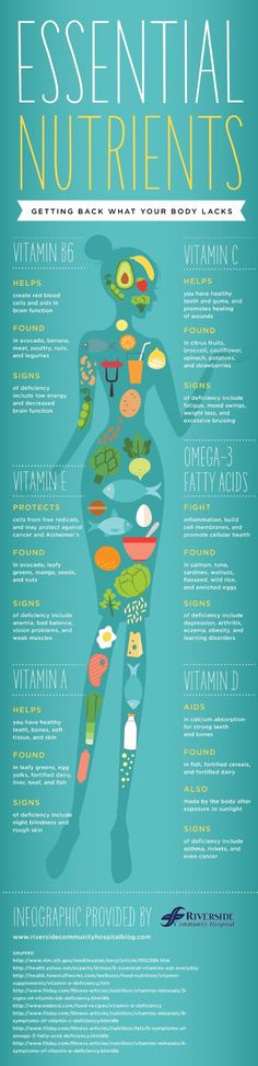 Essential Nutrients Infographic