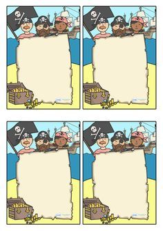 Twinkl Resources >> Note From Teacher- Pirate Themed- Editable >>… Preschool Pirate Theme, Pirate Activities, Library Activities, Preschool Writing, School Themes, Classroom Themes, Classroom Board, Pirate Kids, Pirate Party