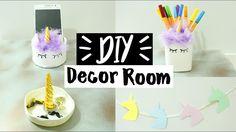 DIY Room Decor & Organization - Idéias FÁCEIS e BARATO! | PRIH GOMES  Decoração super fácil de fazer e fica muito fofo.