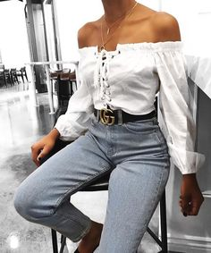 Something about beauty | fabulous-looks: Off the shoulder blouse
