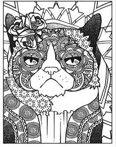 Cats And Dogs Coloring Pages Grumpy Cat Vs The World